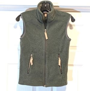 Patagonia Synchilla Fleece Vest Green Full Zip XS